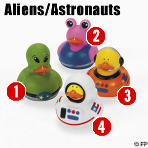 Alien + Astronaut Space Ducks